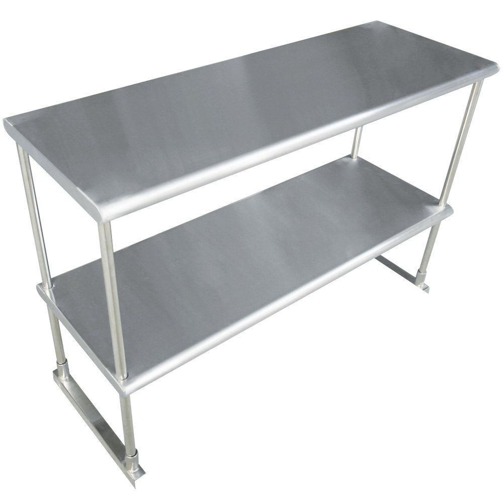 Advance Tabco Eds 12 72 Stainless Steel Double Deck Knock Down Overshelf 72 X 12 Double Deck Metal Shelves Shelves