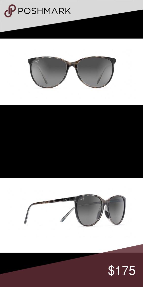 83e5f07923e Maui Jim Ocean Sunglasses (MJ723) Women's cat eye frame. Gray tortoise  frame with