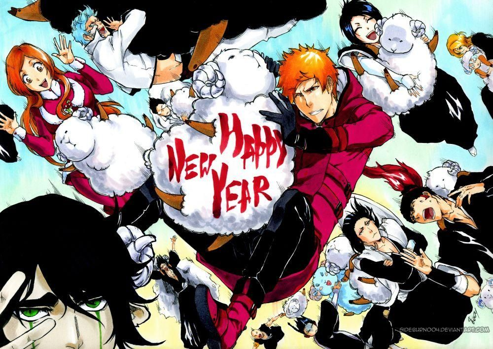 Bleach Happy New Year By Sideburn004 On Deviantart Bleach Art