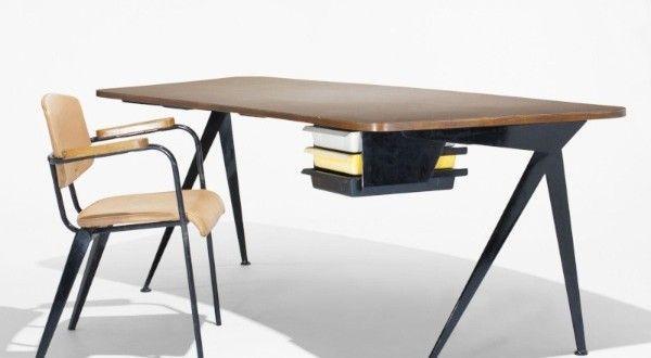 The Jean Prouve Compass Desk Design 50er Jahre Mobel