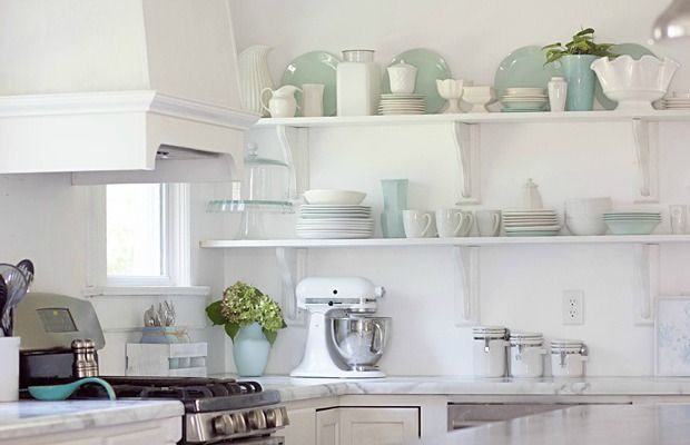 7 Reasons To Try Kitchen Open Shelving   #goodhousekeeping #sparklesisclean  #openup