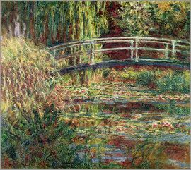 Claude Monet - Seerosenteich: Rosa Harmonie