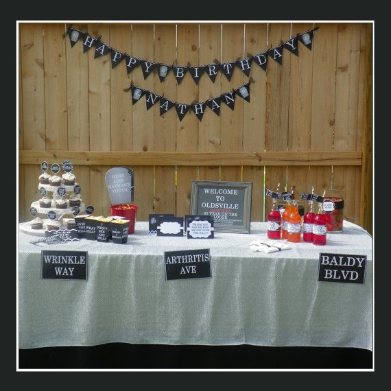 Printable Over The Hill Party Over The Hill Birthday Over