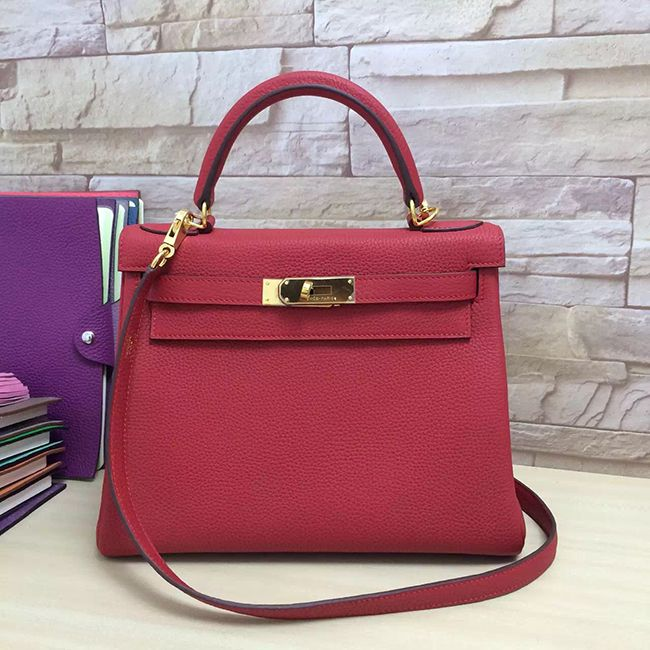 c2dd0446160 Hermes Red Kelly 28 Togo Leather dream bag 😍