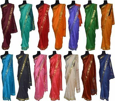 Photo of Indian sari with gold brocade braid. Sari Saree Dresses Indie …