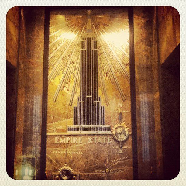 Empire State Building in the lobby