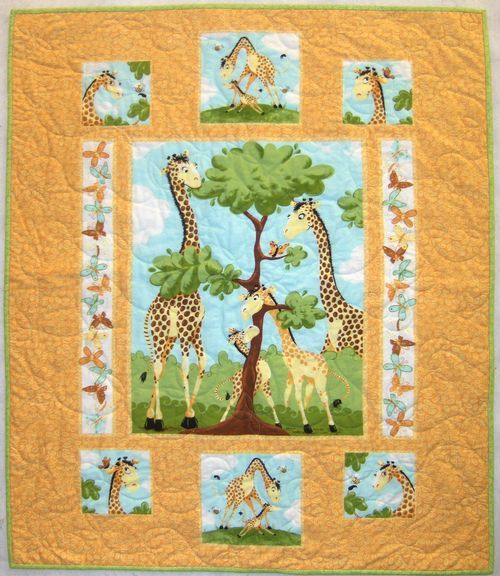 Quilt Panel Kits | Make this cute baby quilt using just a panel ... : quilt panel kits - Adamdwight.com