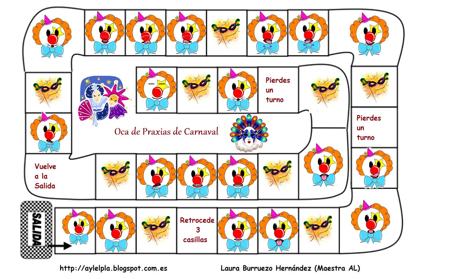 El rinconcito de Audición y Lenguaje: Praxias de Carnaval