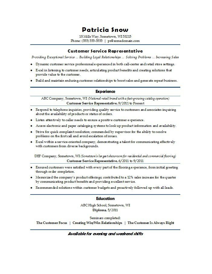 customer service resume examples template lab pin companion - resume for customer service representative