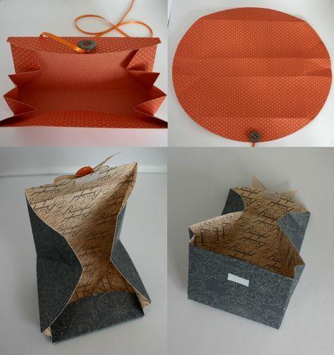 die quadratur des kreises buchbinderei origami tasche. Black Bedroom Furniture Sets. Home Design Ideas