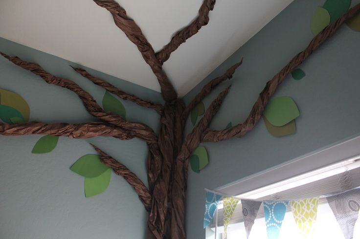 Rolled Paper Tree On Wall Google Search Tree Wall Paper Tree Classroom Tree