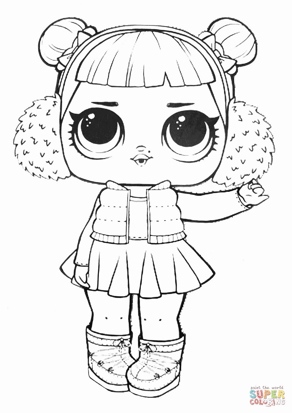 Lol Surprise Doll Coloring Pages Printable Unique Lol Surprise Doll Snow Angel Coloring Page Angel Coloring Pages Cute Coloring Pages Baby Coloring Pages