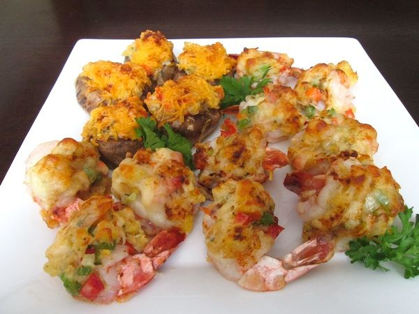 Red Lobster Stuffed Shrimp and Stuffed Mushrooms Food