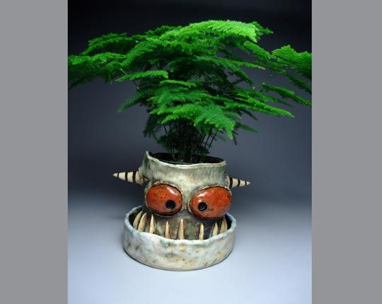 Ceramic monsters by James DeRosso a local Portland artist! I love his monsters!