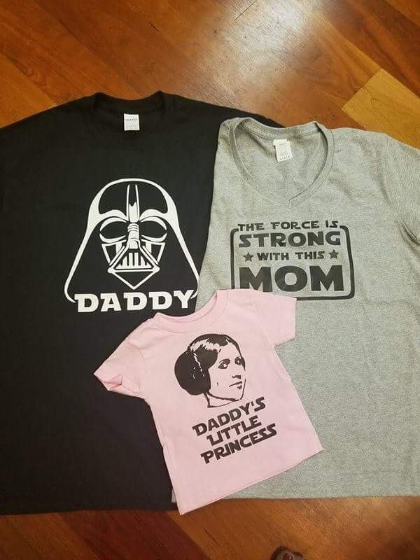 0b637767 Disney Star Wars Inspired Matching Family T shirt Darth Vader Daddy, mom by  GraphXVinylandMore on Etsy