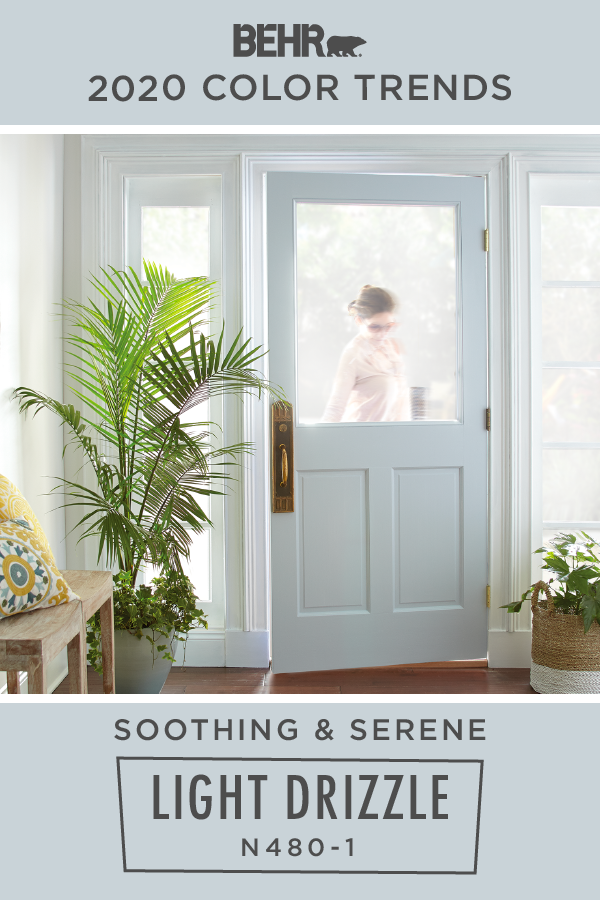 You Re Sure To Come Home And Smile When You See Behr Paint In Light Drizzle From The 2020 Color In 2020 Trending Paint Colors Paint Colors For Home Light Blue Paints