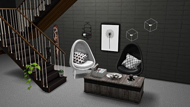Sims 4 CC's - The Best: Decorative Stairs, Chair and Coffee Table Conversi...
