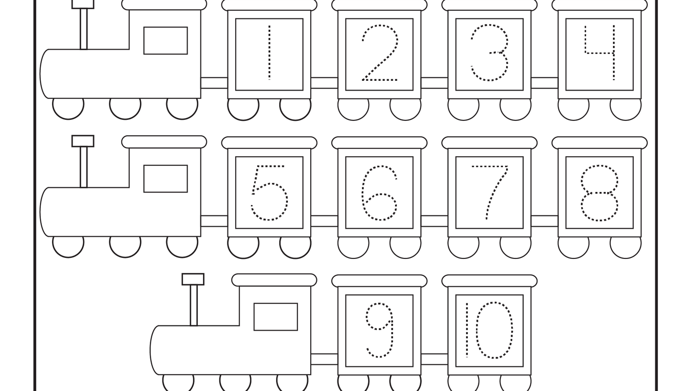 Number Tracing - 1 Worksheet | Worksheets | Pinterest