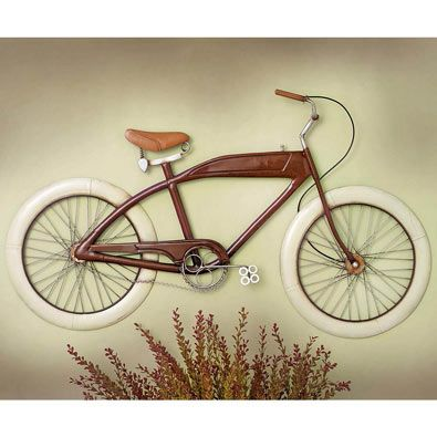 Bike Wall Art vintage red bike metal wall art | for the home | pinterest | home