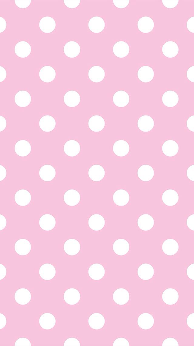 Large Pink White Polka Dots Iphone Phone Background