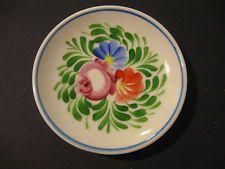 Porcelain Handpainted Vintage Hungarian Hollohaza Flowers design Wall Decor
