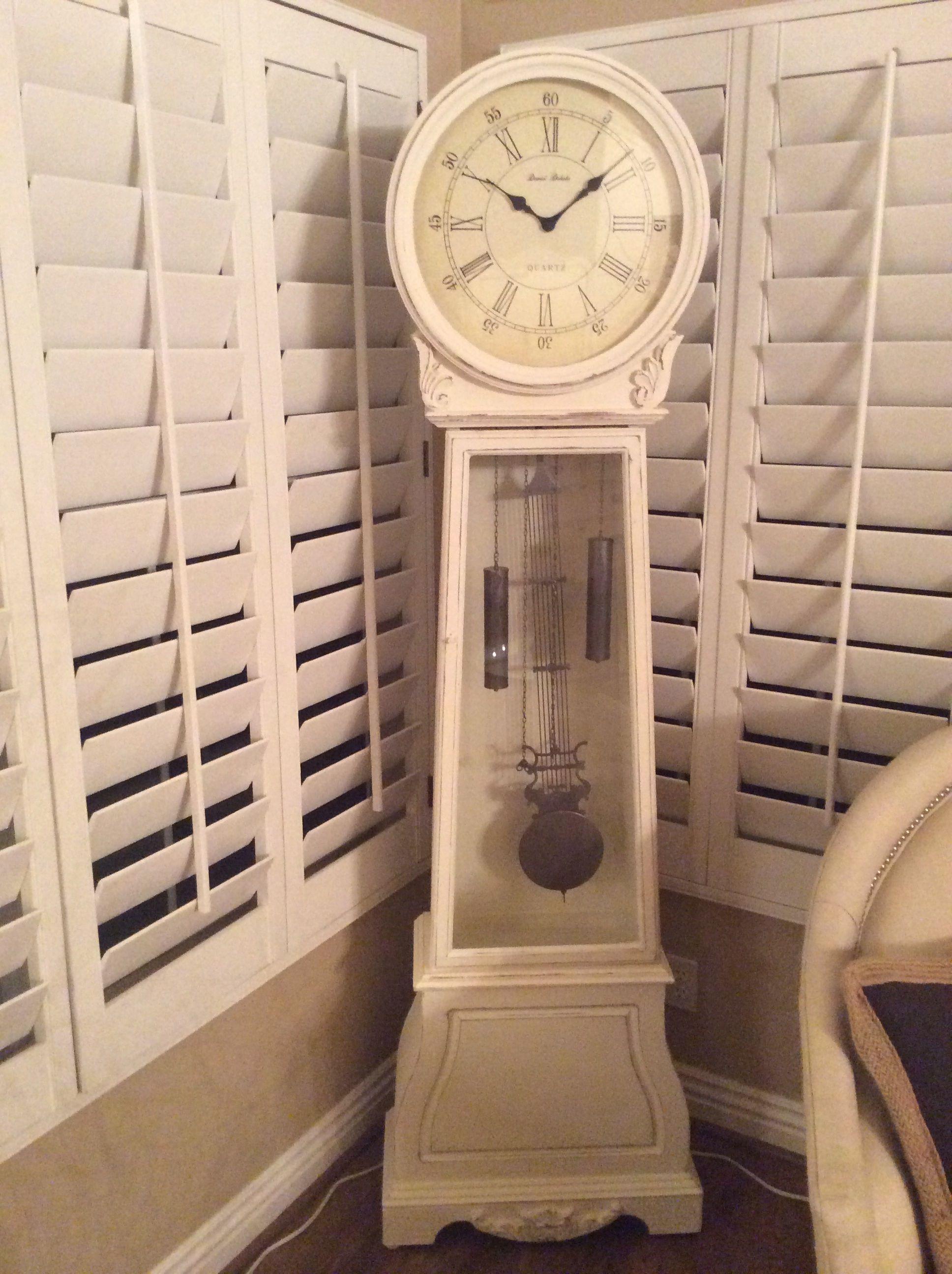Shabby Chic Grandfather Clock