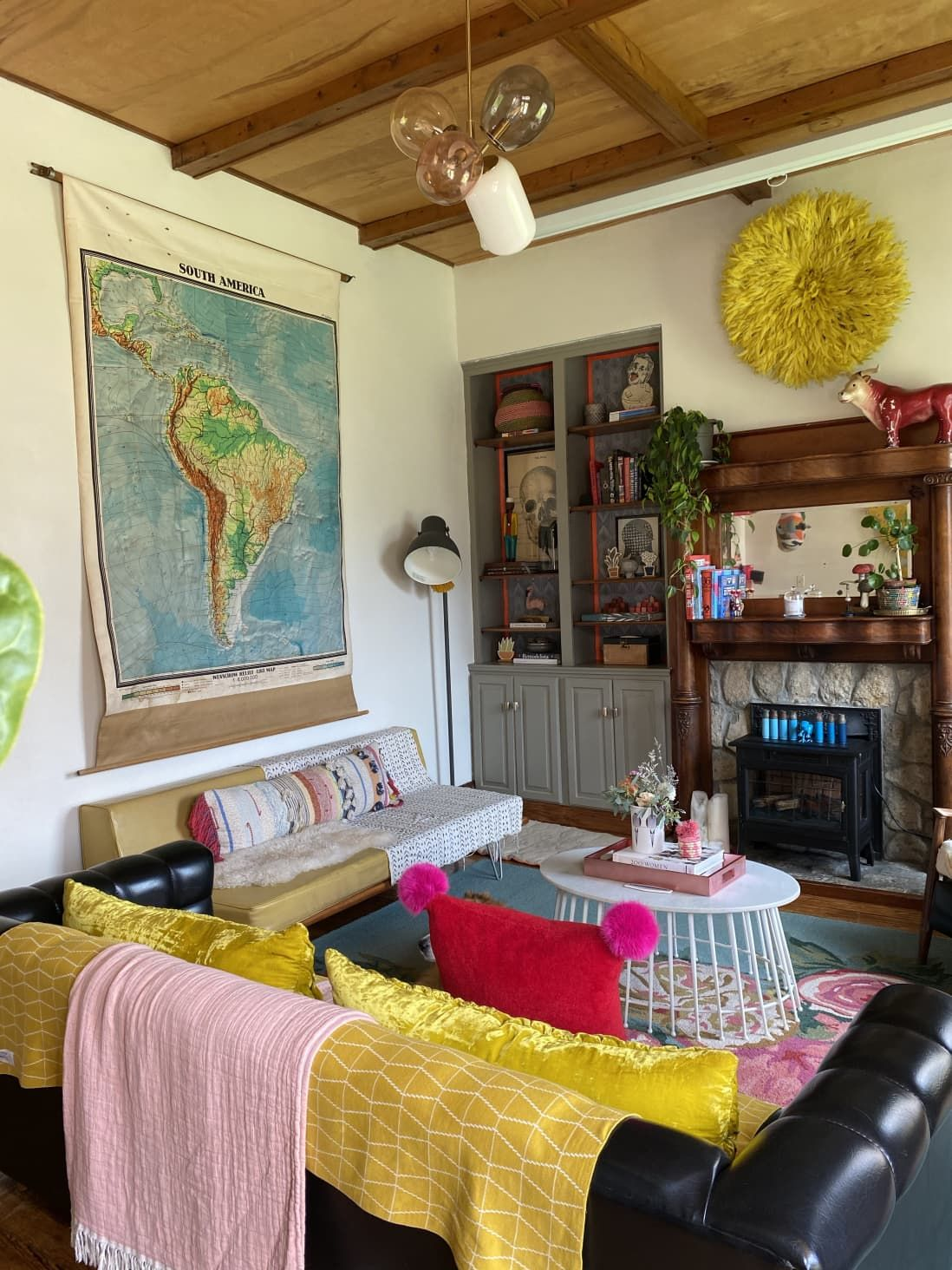 Every Room In This 115 Year Old House Has Been Transformed With Colorful Diy Paint Boho Living Room Colorful Diy Diy Wall Painting