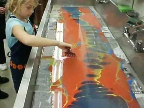 Marbling Silk Scarf Silk Painting Silk Scarves Silk
