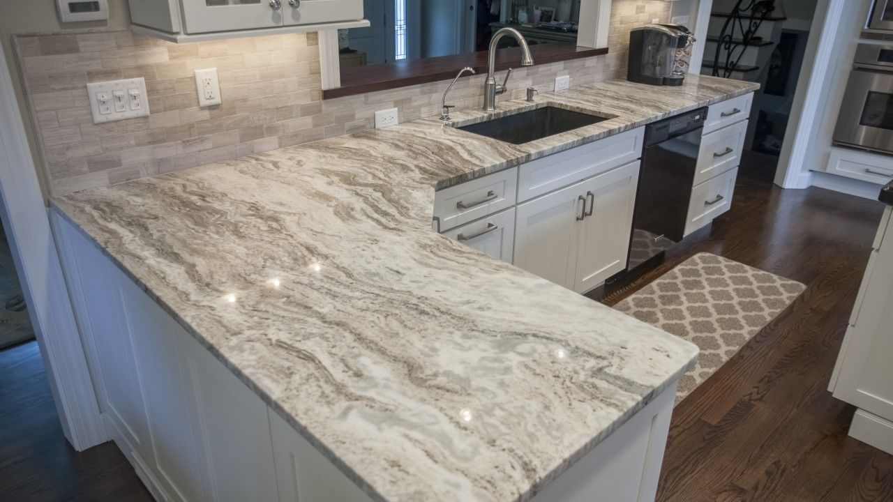 Fantasy Brown Quartzite Kitchen Countertop W Straight Edge