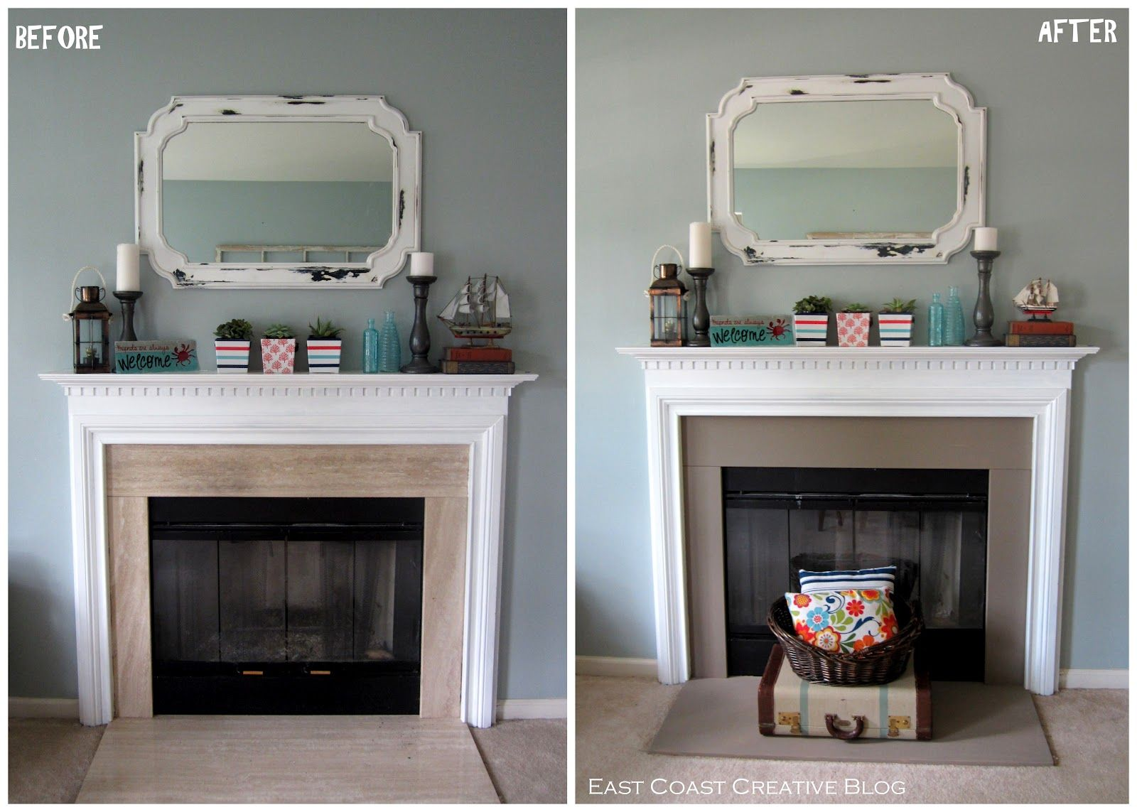 Simple Fireplace Upgrade Annie Sloan Chalk Paint Simple