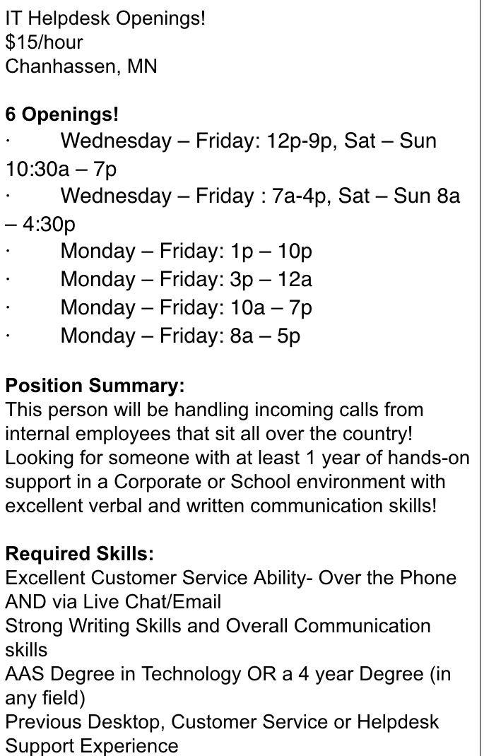 Open Role Technology Job Job Seeker Information Technology
