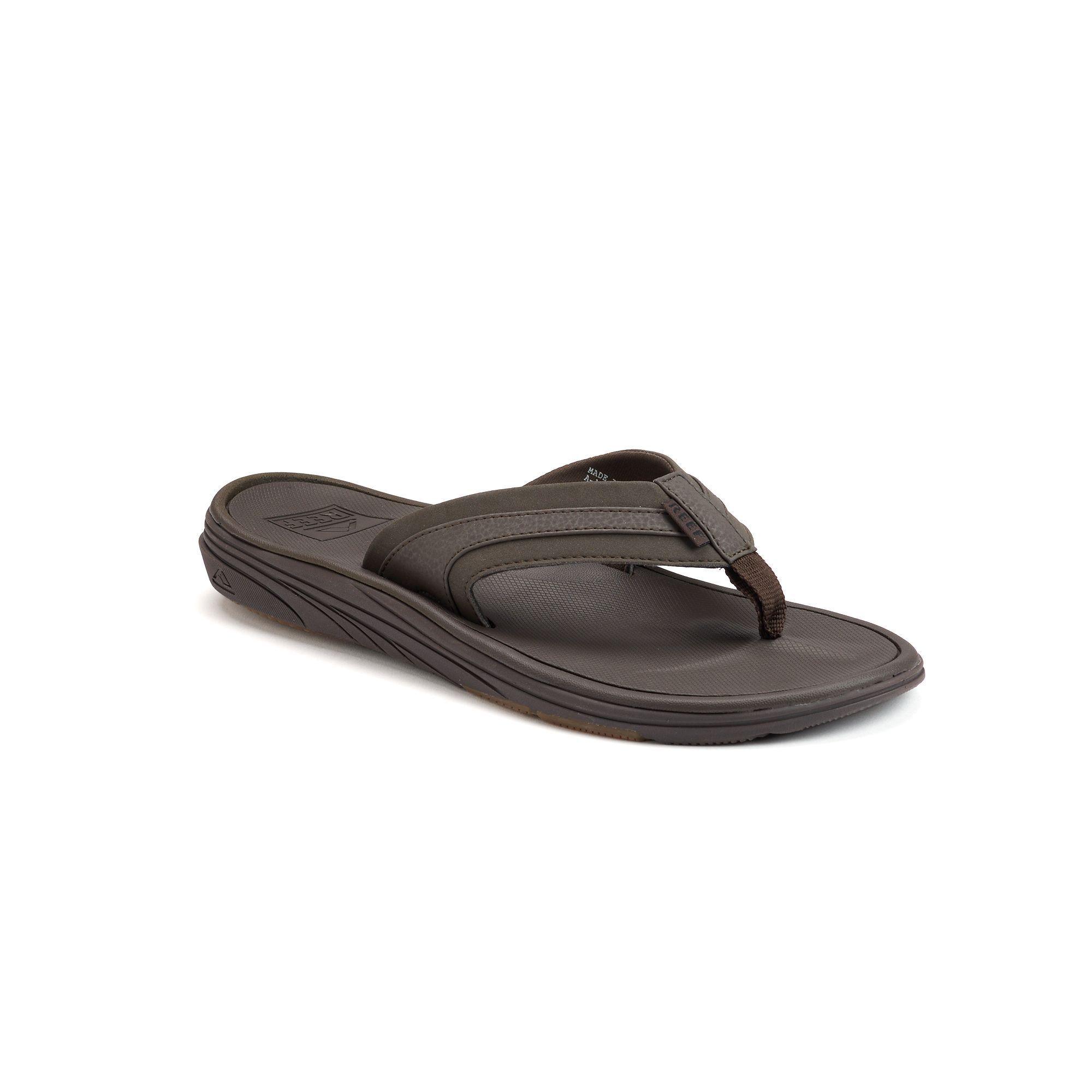 Reef Phoenix Tan Men's Sandals Flip Flops Thong Black New