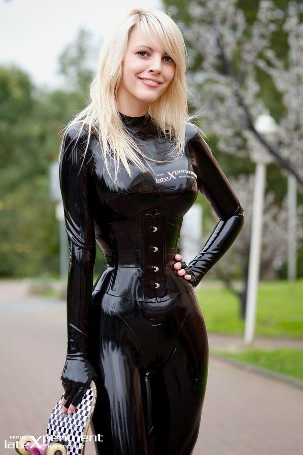 Latex suit girl