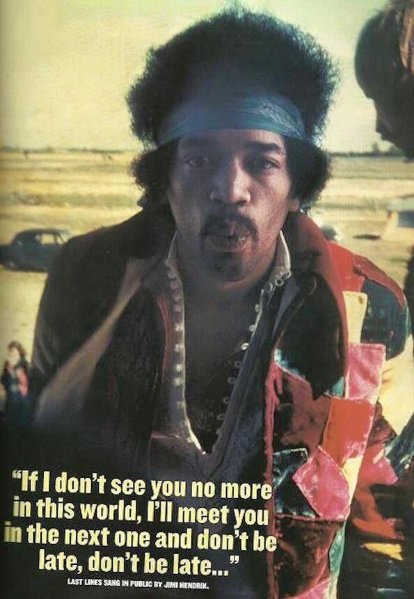 Nice quote from Jimi