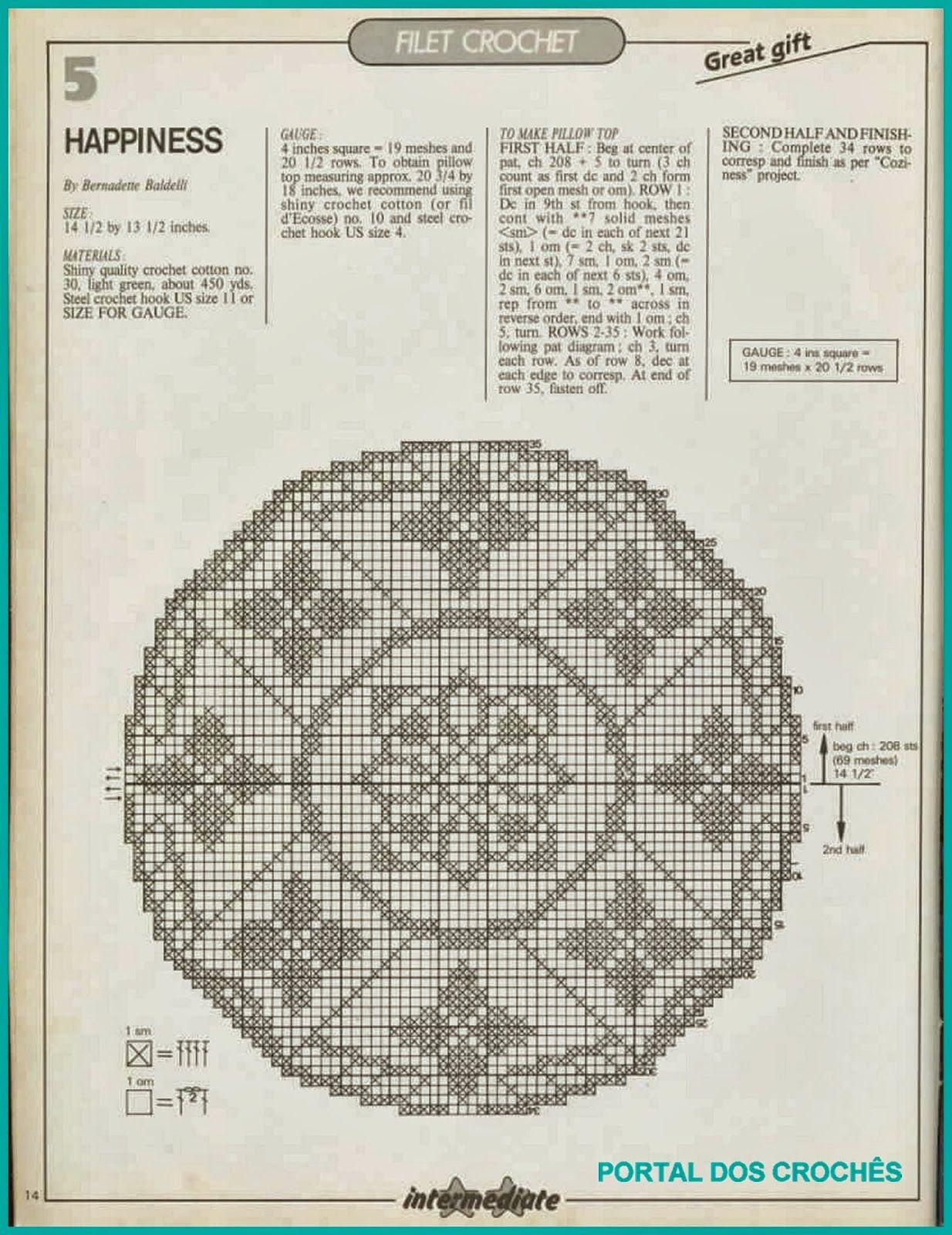 Variedades de crochês com gráficos | Robótki | Pinterest | Filete y ...