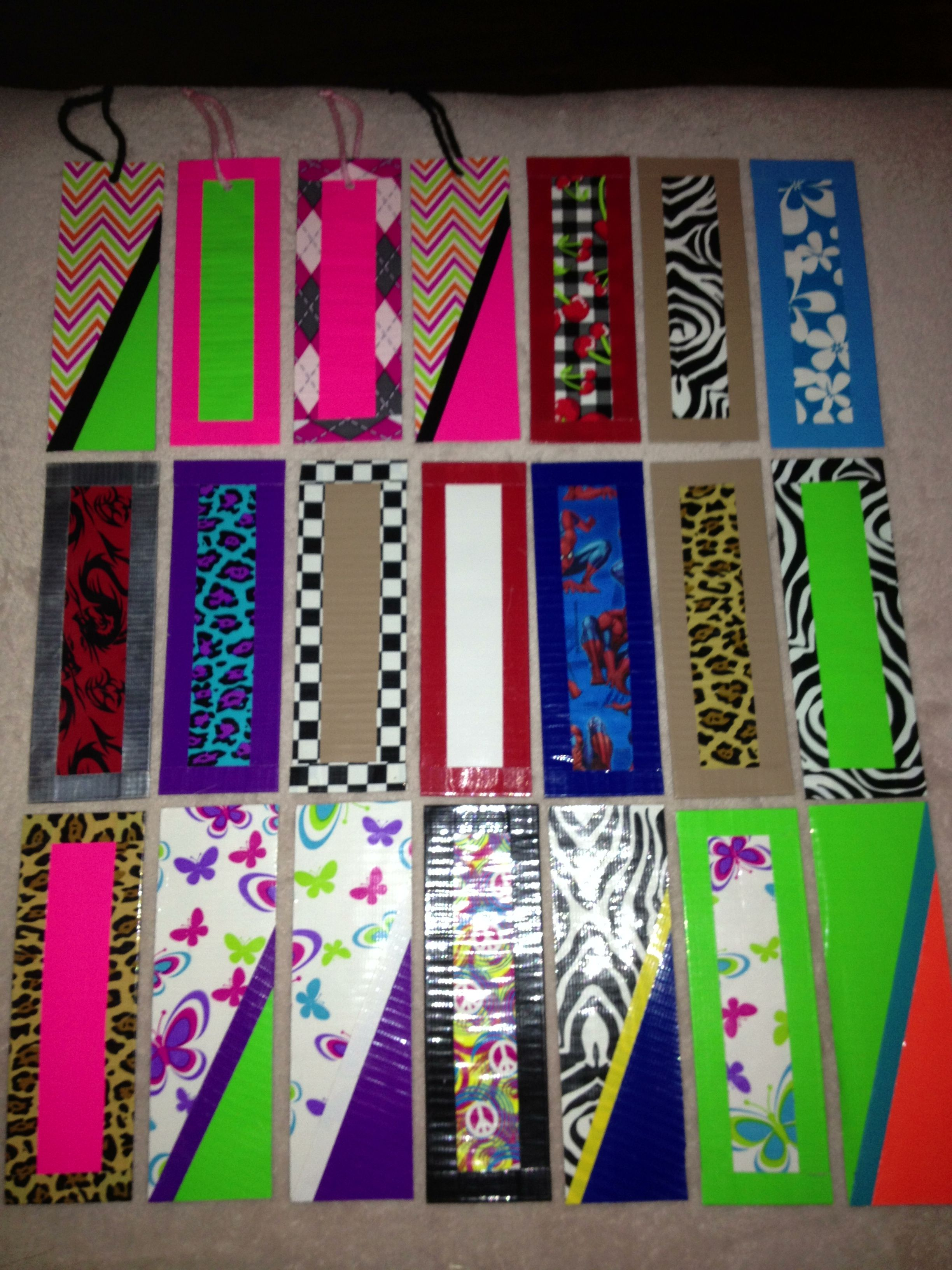 My Ducttape Bookmarks Duck Tape Crafts Diy Bookmarks Duct Tape