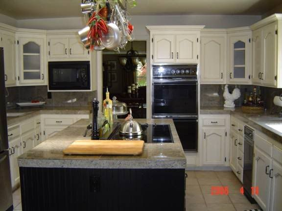 Want to redo my kitchen in cream! Spring project for sure ...