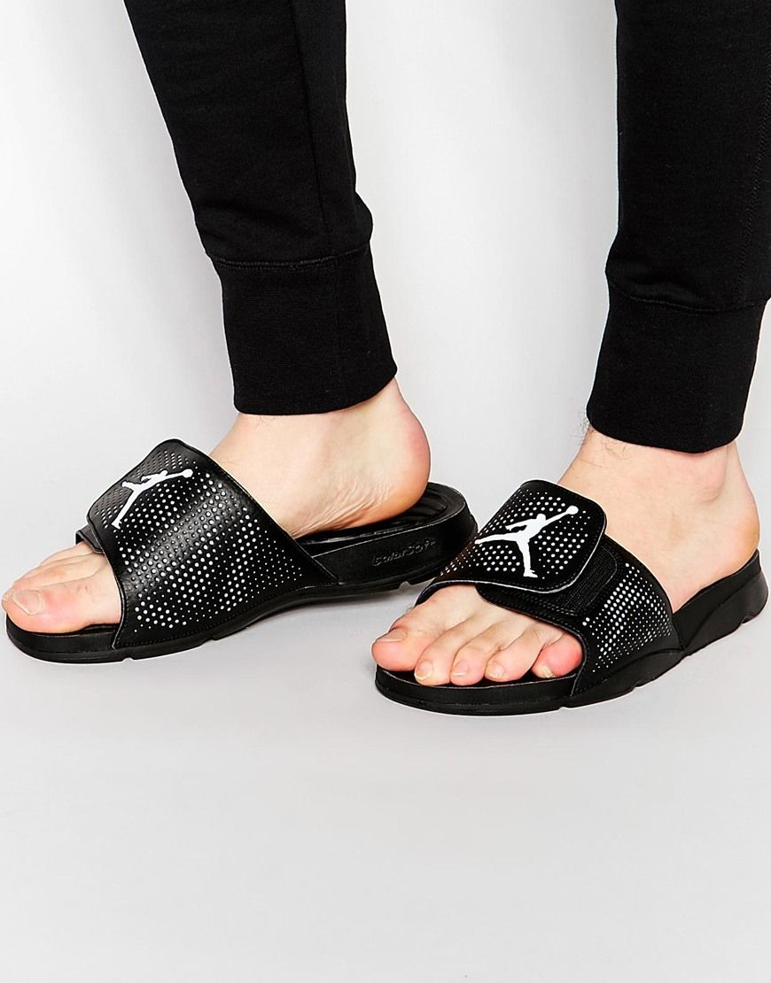92de5418618ea Image 1 of Nike Air Jordan Hydro 5 Flip Flops 820257-010