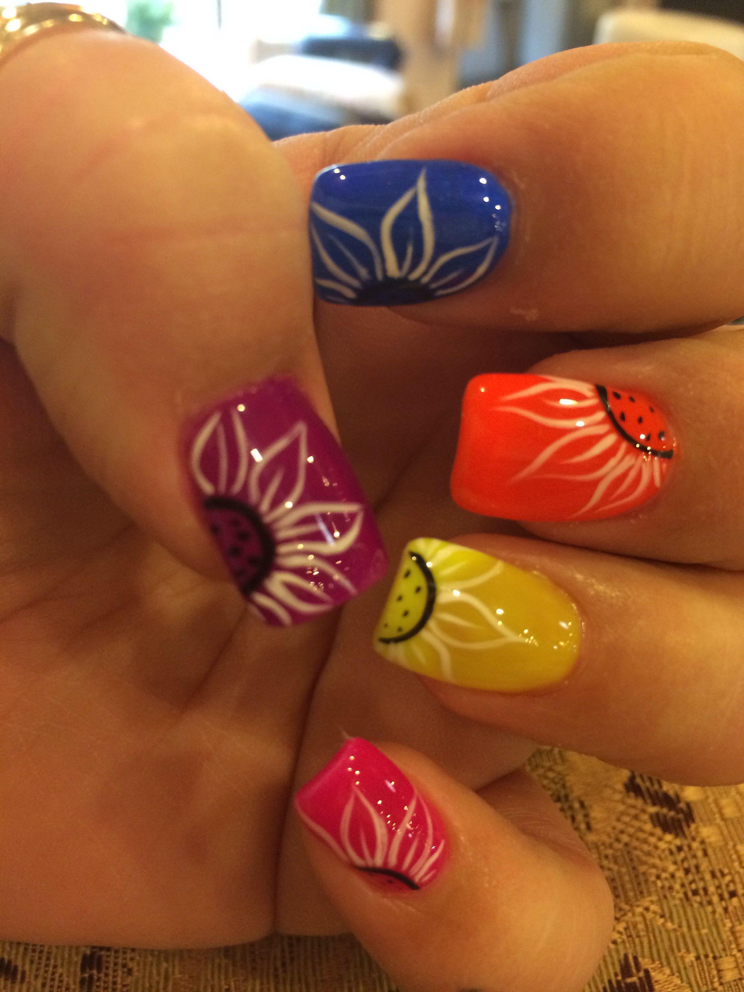 Spring nails | Fabiola gpt | Pinterest | Nagelschere, Fingernägel ...