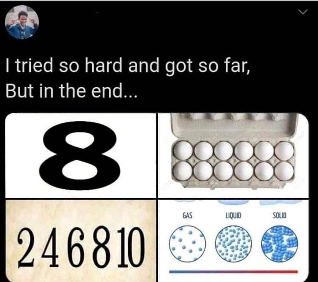 Eight Dozen Even Matter Physics Memes Dad Jokes Jokes