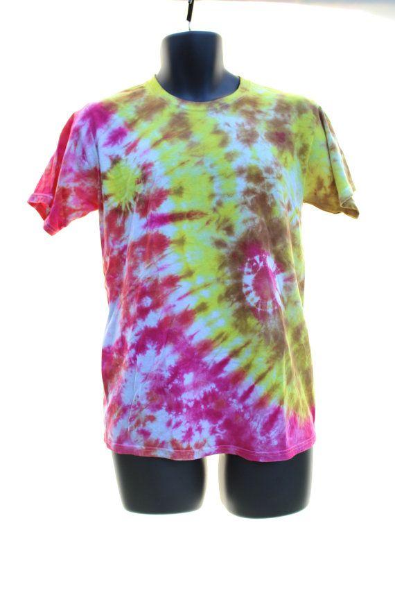 Tie Dye T-Shirt SMALL NEW Yin Yang Men by CraftyCosmicCreation