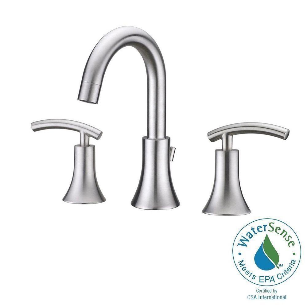 Ultra Faucets Contemporary 8 In Widespread 2 Handle Bathroom