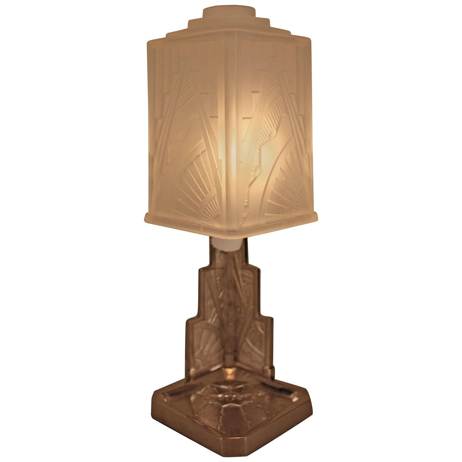 french art deco table lamp by des hanots art deco table lamps