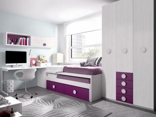 Dormitorios modernos juveniles buscar con google - Dormitorio pequeno juvenil ...