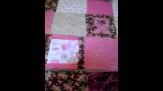 breast cancer ribbon quilt - YouTube