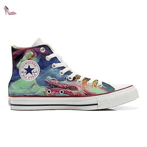 Converse Customized Adulte - chaussures coutume (produit artisanal) Floral Vintage size 35 EU 8sE9Pzu