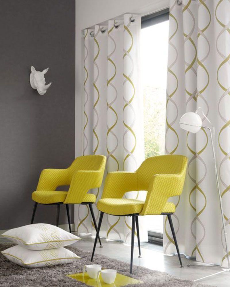 fauteuil jaune scandinave tissu et fer touslescanapescom - Fauteuil Jaune Scandinave