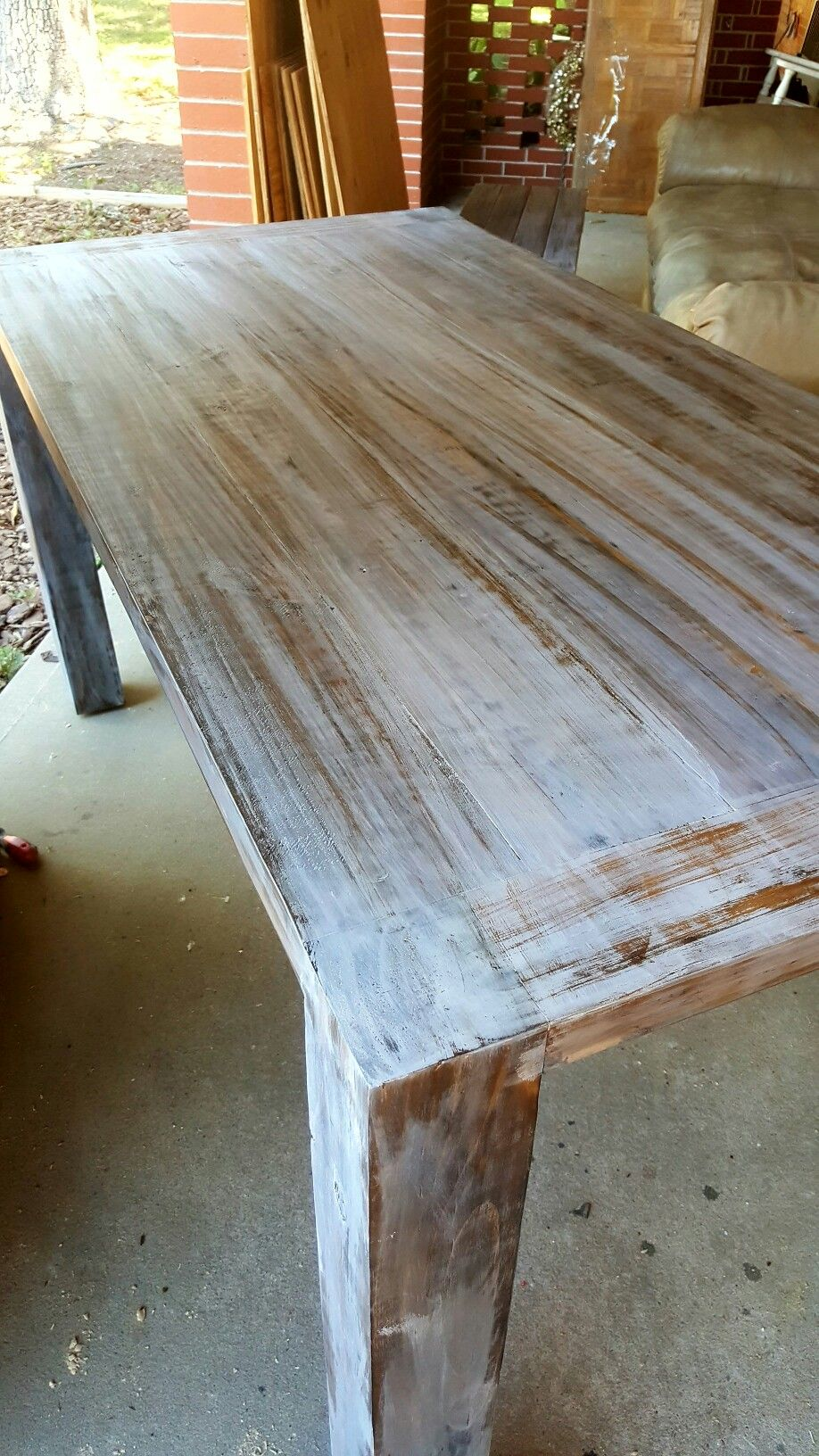 Pop White Wash Pickle On Your Dry Dark Stain Looks Awesome