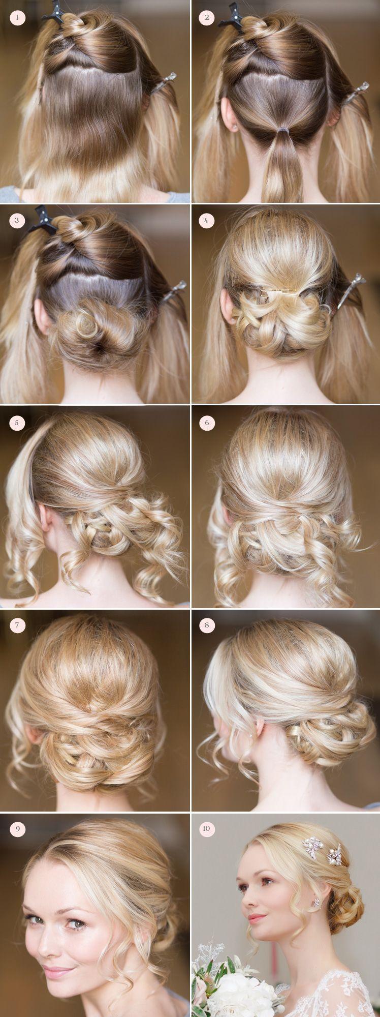 bridal hair and make up tutorial   hair   haare hochzeit