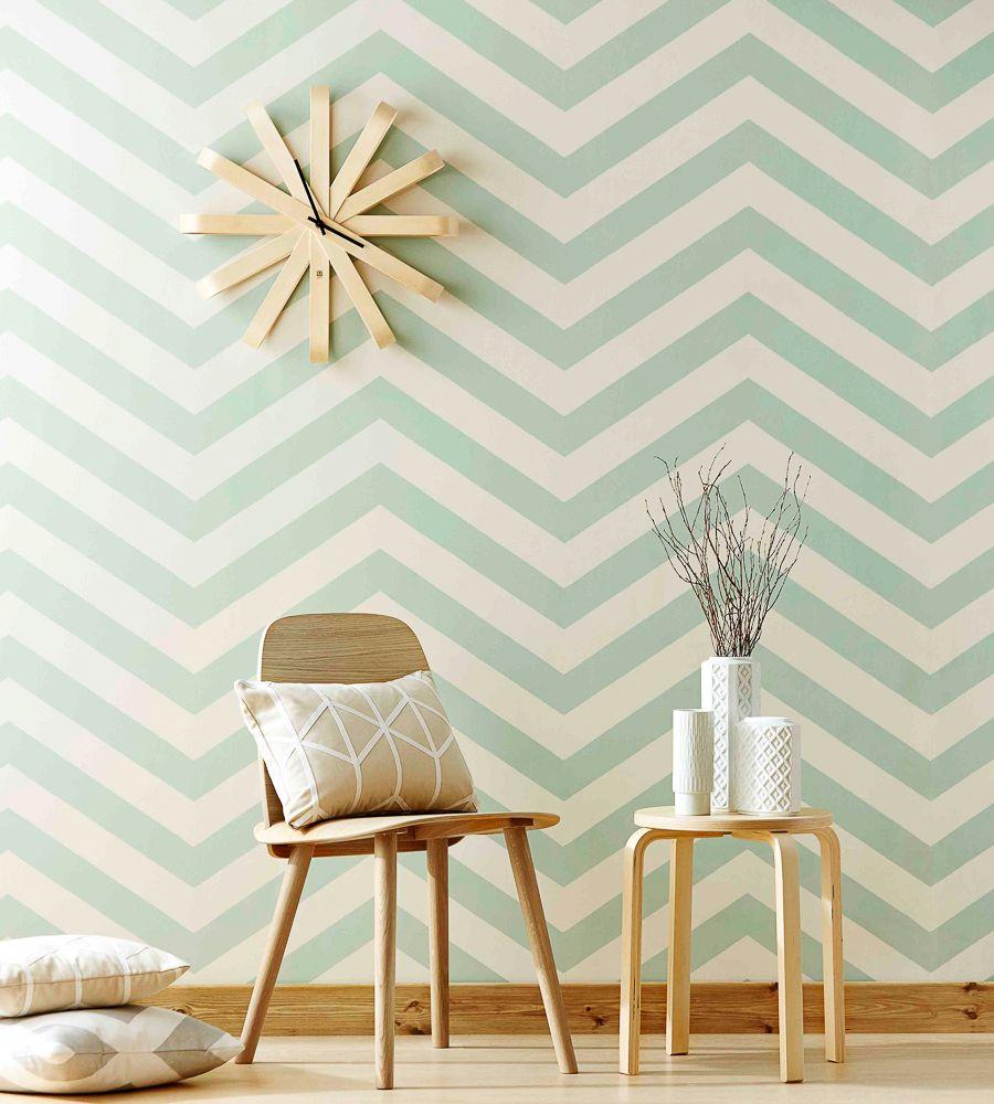 Vector Wallpaper By Scion Room Wallpaper Wallpaper Living Room Chevron Wallpaper